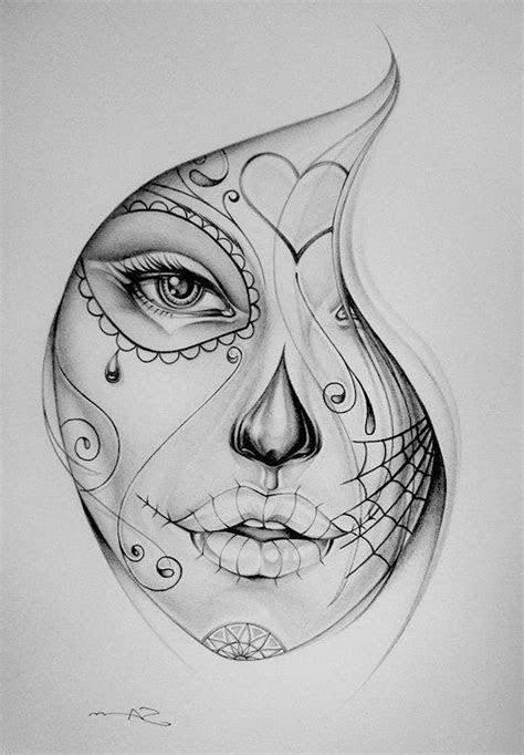 chicano girls face tattoo sketch tattoo ideas gallery