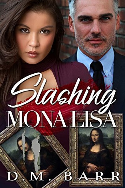 Book Cover for  romantic suspense Slashing Mona Lisa by D.M. Barr.