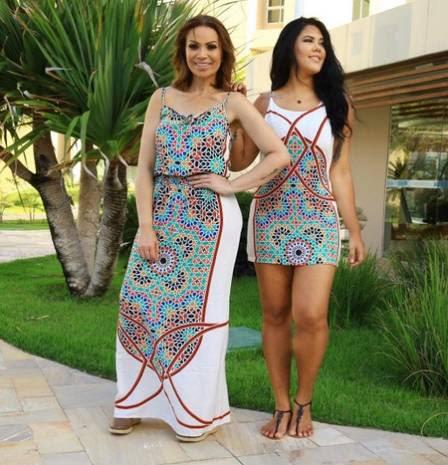 Solange Almeida e a filha, Sabrina