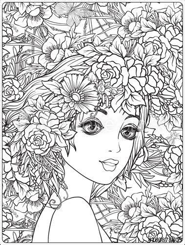 Flower Head Coloring Page - Creative Art