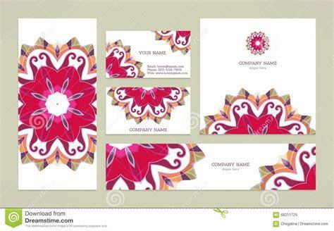 Set Business Card With Mandala Stock Vector   Image: 68211729