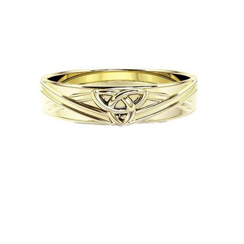 Edinburgh Celtic Trinity Knot Saltire Wedding Ring