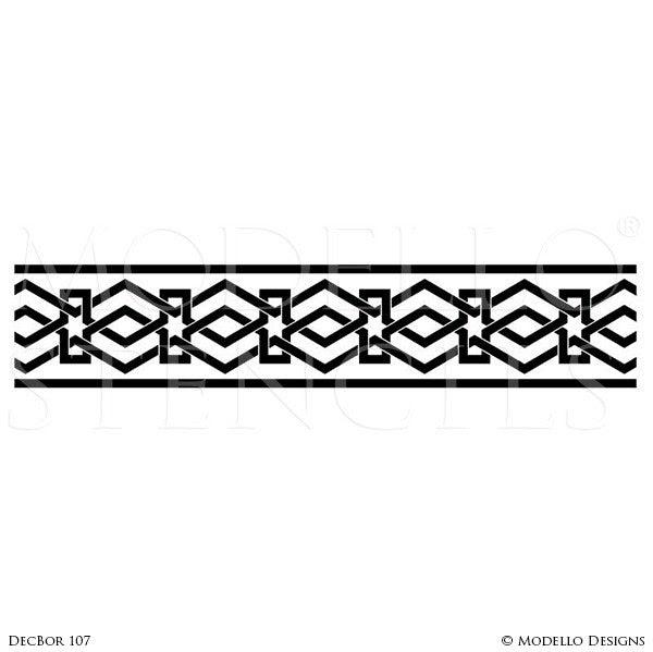 Beautiful Stencil Designs For Walls Modern