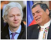 Julian Assange e il presidente Rafael Correa