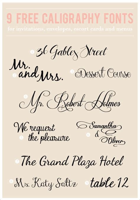 8 Free Calligraphy Fonts For Word Images   9 Free