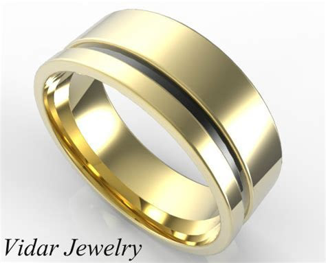 Custom Two Tone Gold Wedding Band For Men's   Vidar