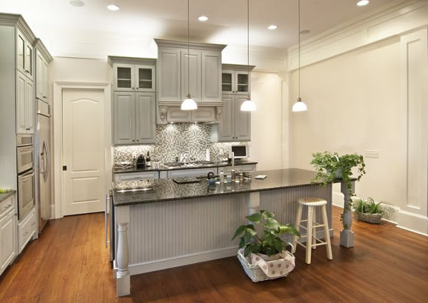 Choosing Cabinet Paint Colors - Gray or Creamy White ...