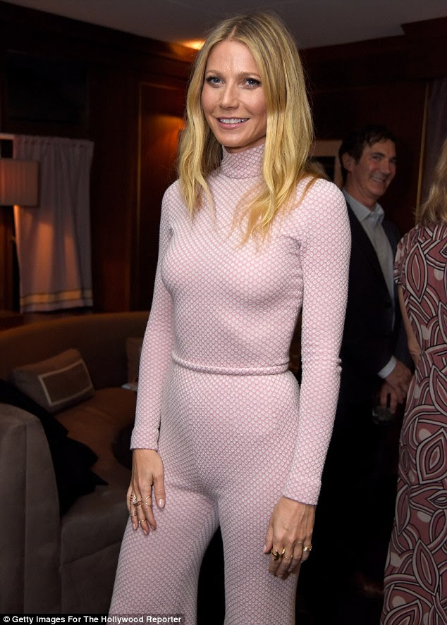 Super coordinated: The actress' all-in-one had a turtleneck as a top half, which clung to her slim figure