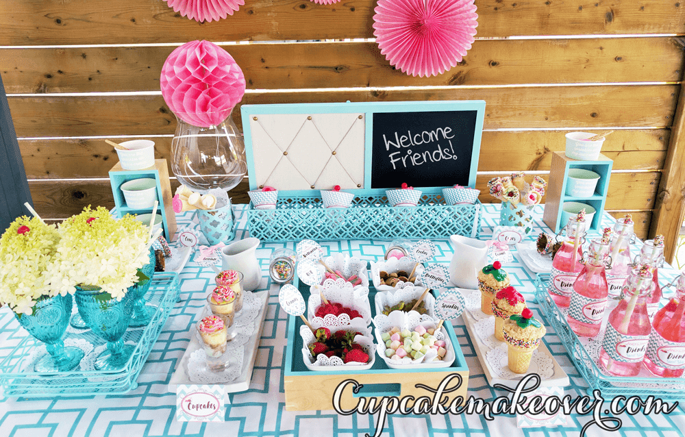 Candy Sweets Diy Ice Cream Social Party Cupcakemakeover