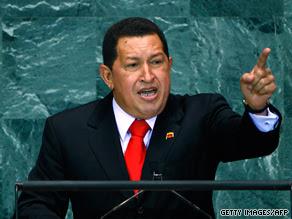 Venezuelan President Hugo Chavez spoke highly of President Obama at the United Nations on Thursday.