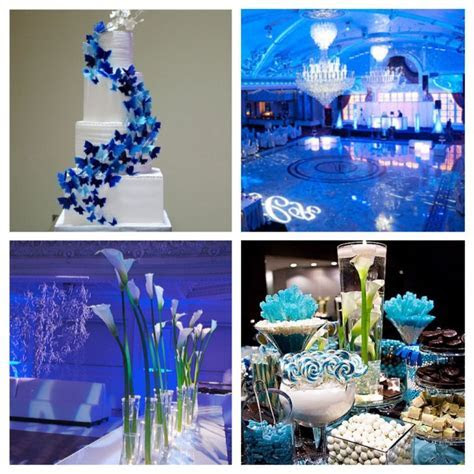 royal blue wedding centerpieces   14 Photos of the Royal