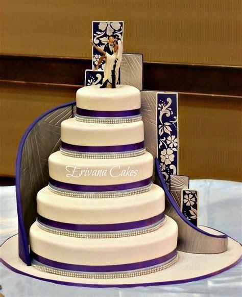 Stairs wedding cake   Buttercream   Pinterest   Elegant