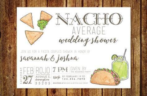 Nacho Average Wedding Shower Invitation   Fiesta Wedding