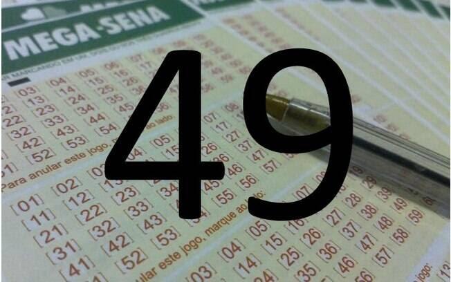 O 49 saiu em 179 sorteios – 42 vezes a mais do que os lanternas da Mega-Sena, 22 e 26. Foto: Divulgação