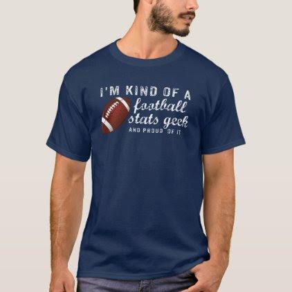 Funny Vintage Football Stats Geek Football Fan T-Shirt