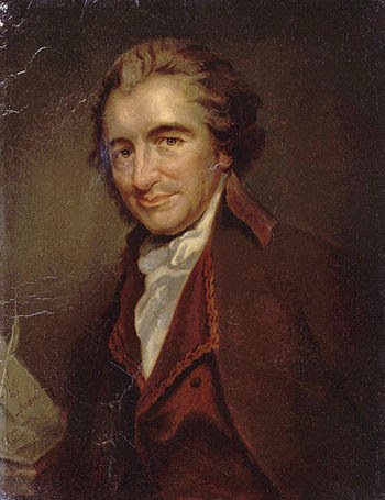 Thomas Paine; a painting by Auguste Millière (...