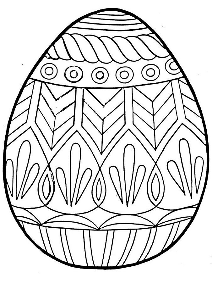 Easter Egg Coloring Pages 2018- Dr. Odd