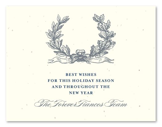 Antique Wreath Business Holiday Card