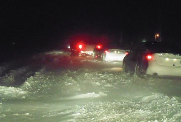 Brasileira ficou presa na neve enquanto voltava para Chicago (Foto: Ana Luiza Cruz/ VC no G1)