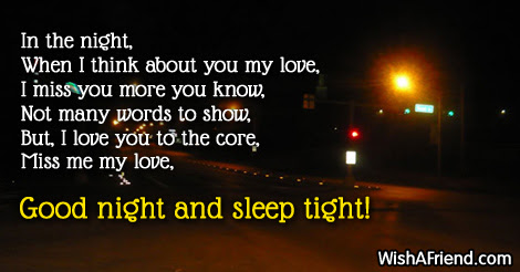 In The Night When I Think Good Night Message For Boyfriend