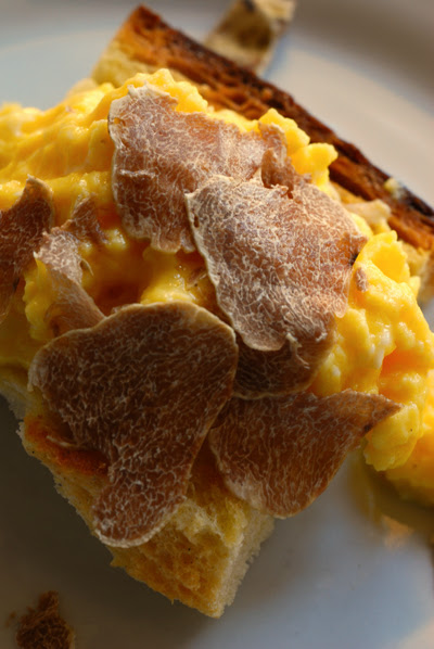 Scrambled Eggs with White Truffle