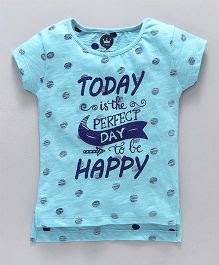 Vitamins Half Sleeves Tee Perfect Day Print - Sky Blue
