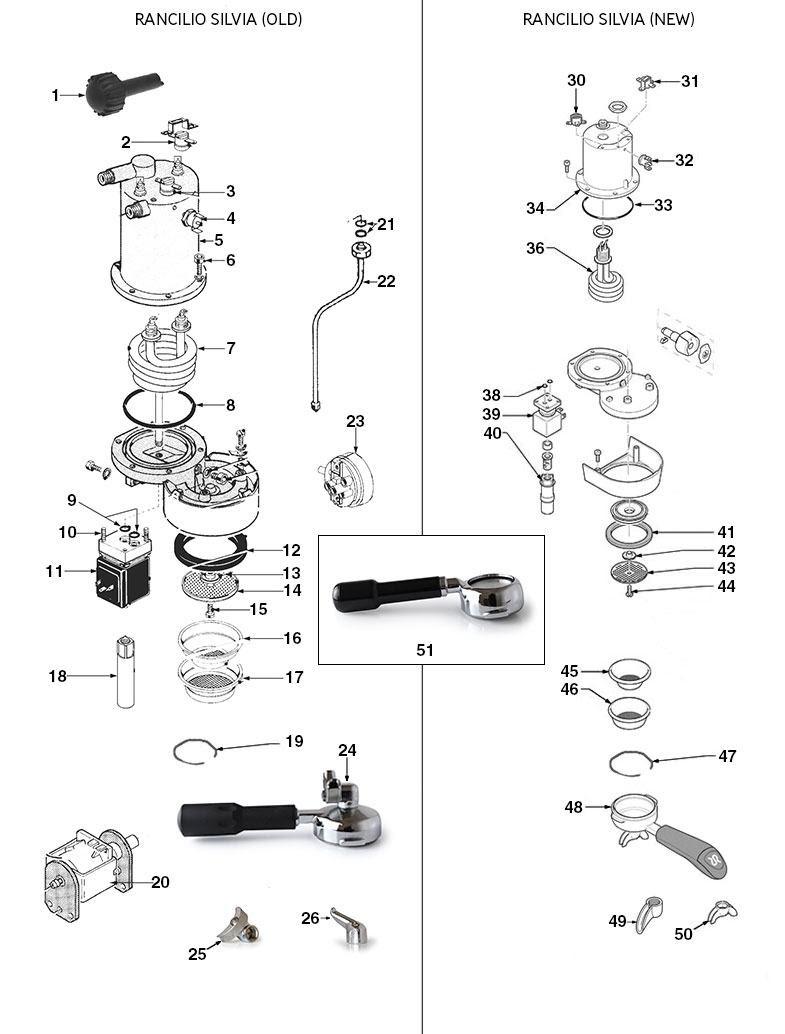 34 Rancilio Silvia Parts Diagram