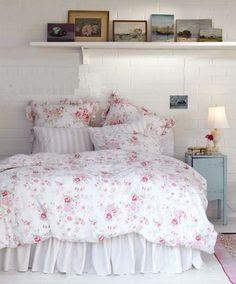 Rachel ashwell shabby chic pink roseblossom waterlily ruffle euro sham