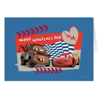 Cars Happy Valentine's Day Card