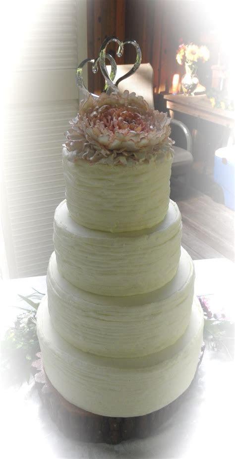 Sweet T's Cake Design: Shabby Chic Peony Rustic Wedding Cake