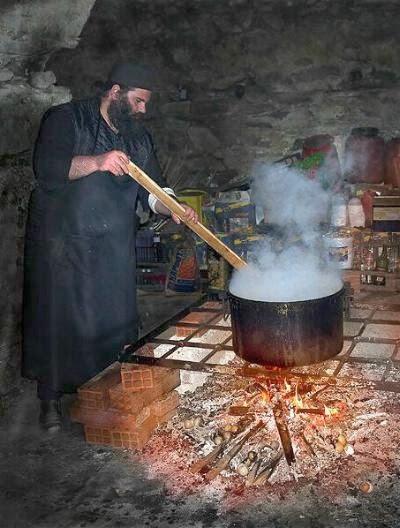 Αποτέλεσμα εικόνας για Гора Афон монах пищи кухня