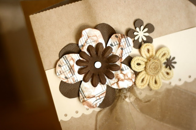 Brown Flower Bag
