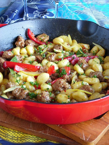 Italian Sausage with Gnocchi & Red Peppers