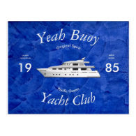 Yacht Club Yeah Buoy Postcard