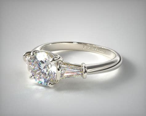 Tapered Baguette Diamond Engagement Ring   Platinum   17150P