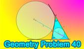 Problema 40: Triangulo 40-60-80 grados, Incenter, Excenter.