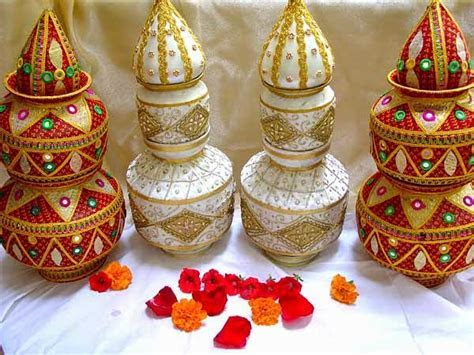 Wedding Kalash And Thali Decor Tips   Marrage HandiCraft