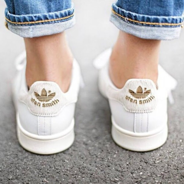shoes boho stan smith gold shoes street style hippie demin