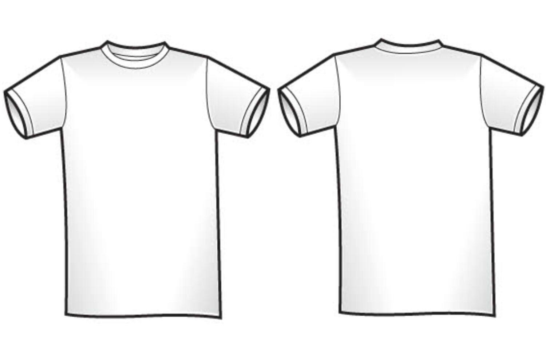 V Neck T Shirt Vector