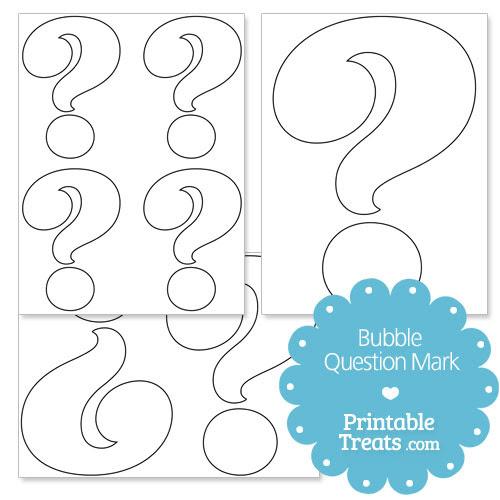 Printable Bubble Question Mark — Printable Treats.com