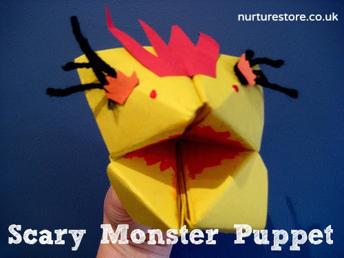 photo of: Scary Monster Puppet from nurturestore (via Monster RoundUP by RainbowsWithinReach)
