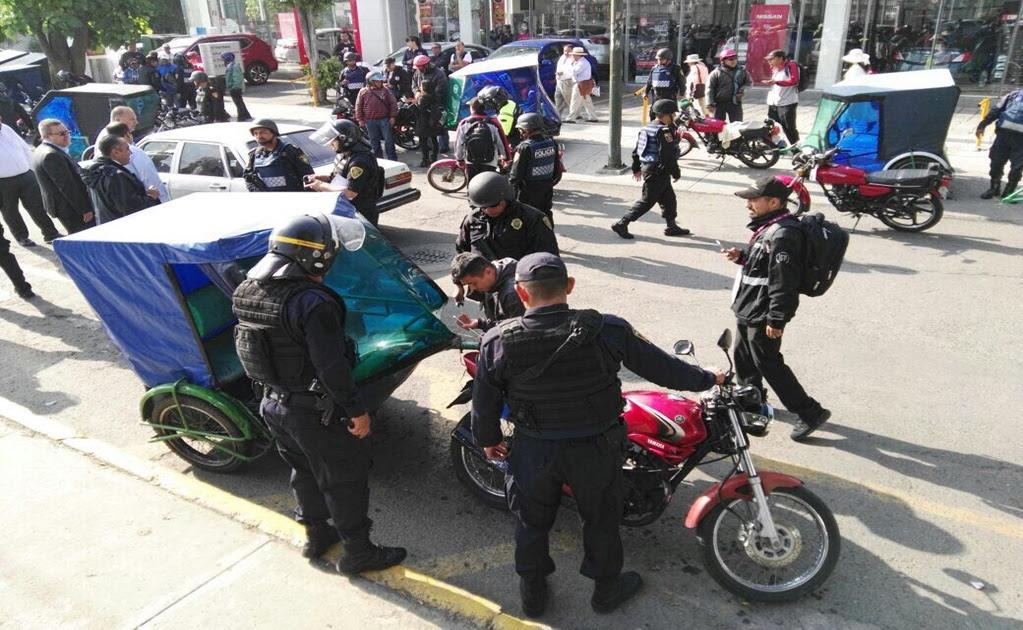 Operativos contra mototaxis llegan a Venustiano Carranza