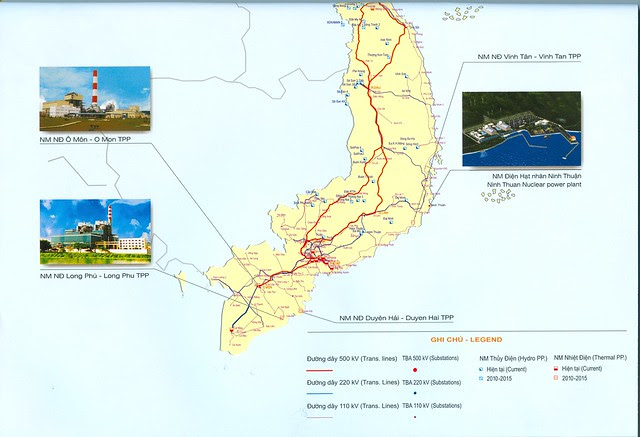 bản đồ hệ thống điện Việt Nam