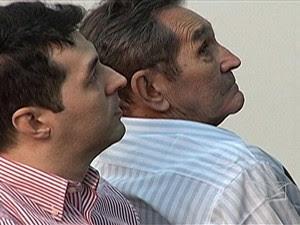 Empresário Gláucio Alencar e o pai, José Miranda (Foto: Reprodução/TV Mirante)
