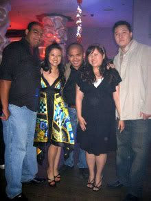 Posing with Carlos, Sonia, Sarina and Hao at the Orchid Lounge in Los Angeles.