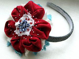 Цветок из ткани (лён) | Ярмарка Мастеров - ручная работа, handmade