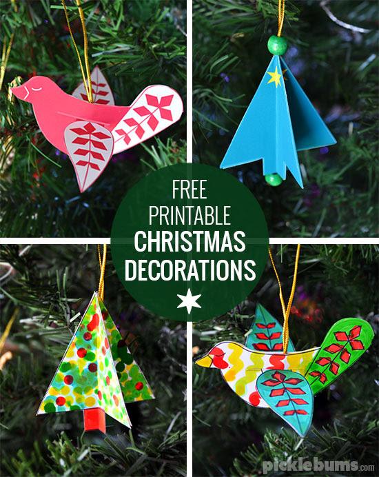 Gratis imprimibles decoraciones de Navidad - Navidad hacen elaboración fácil!