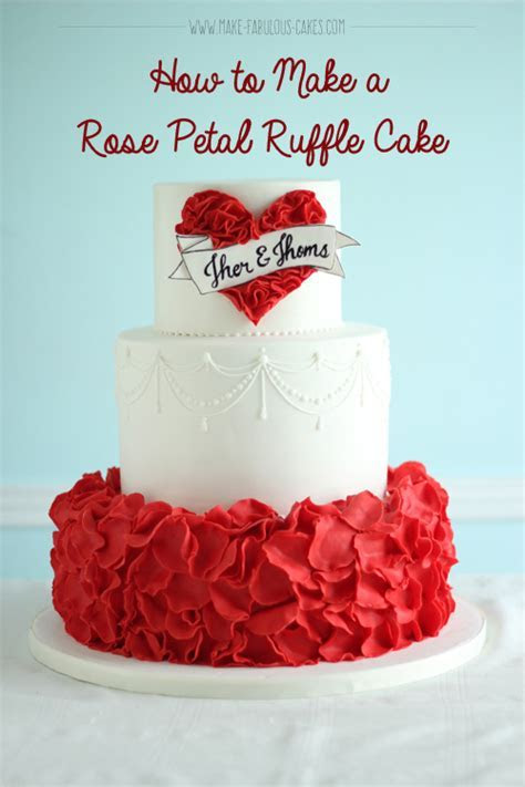 How to Make a Rose Petal Ruffle Cake