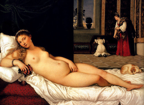 Titian - The Venus of Urbino, 1538 - Uffizi Galleria Florence Italy by mbell1975