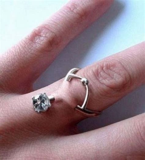 Worst wedding ring ever.   Worst Wedding Ideas Ever that I